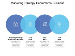 Marketing Strategy Ecommerce Business Ppt Powerpoint Presentation Infographics Cpb