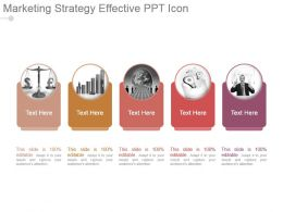 Marketing Strategy Effective Ppt Icon