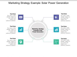 Marketing Strategy Example Solar Power Generation Ppt Powerpoint Presentation Icon Brochure Cpb
