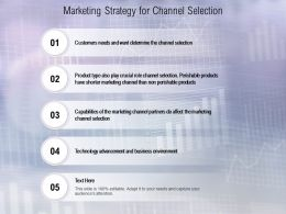 Marketing Strategy For Channel Selection