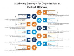 Marketing Strategy For Organization In Vertical 10 Stage