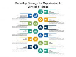 Marketing Strategy For Organization In Vertical 11 Stage