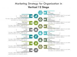 Marketing Strategy For Organization In Vertical 12 Stage