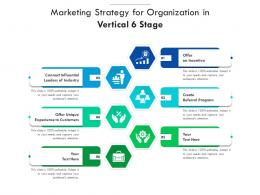 Marketing Strategy For Organization In Vertical 6 Stage