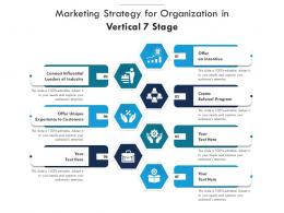 Marketing Strategy For Organization In Vertical 7 Stage