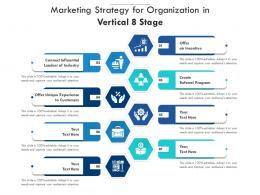 Marketing Strategy For Organization In Vertical 8 Stage
