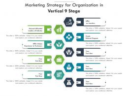 Marketing Strategy For Organization In Vertical 9 Stage