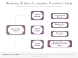Marketing Strategy Formulation Powerpoint Ideas