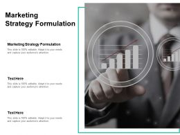 Marketing Strategy Formulation Ppt Powerpoint Presentation Professional Slides Cpb