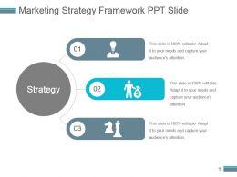 Marketing Strategy Framework Ppt Slide