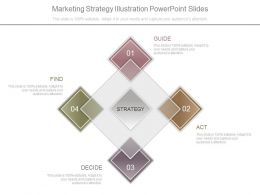 Marketing Strategy Illustration Powerpoint Slides