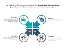 Marketing Strategy Multiple Connected Arrow Flow