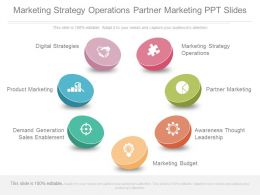 Marketing Strategy Operations Partner Marketing Ppt Slides
