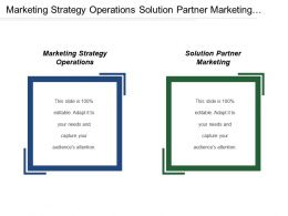 Marketing Strategy Operations Solution Partner Marketing Market Research