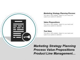 Marketing Strategy Planning Process Value Propositions Product Line Management Cpb
