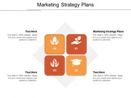 Marketing Strategy Plans Ppt Powerpoint Presentation Icon Master Slide Cpb
