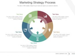 Marketing Strategy Process Powerpoint Slide Design Templates