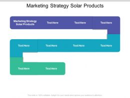 Marketing Strategy Solar Products Ppt Powerpoint Presentation Introduction Cpb