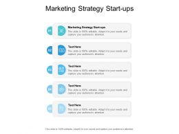 Marketing Strategy Start Ups Ppt Powerpoint Presentation File Images Cpb