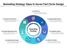 Marketing Strategy Steps In Seven Part Circle Design
