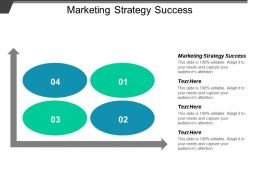 Marketing Strategy Success Ppt Powerpoint Presentation Icon Clipart Cpb