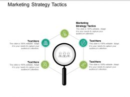 Marketing Strategy Tactics Ppt Powerpoint Presentation Infographic Template Format Ideas Cpb