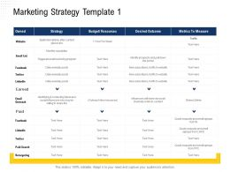 Marketing Strategy Template 1 Requests Ppt Powerpoint Presentation File Diagrams