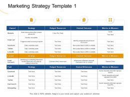 Marketing Strategy Template 1 Website Ppt Powerpoint Presentation Show Inspiration