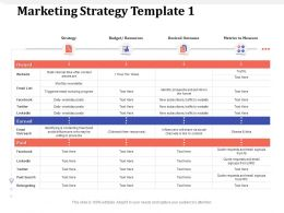 Marketing Strategy Template Share Via Ppt Powerpoint Presentation Slides Clipart