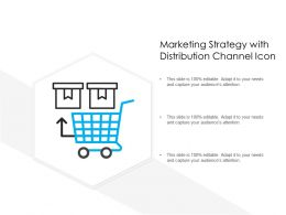 Marketing Strategy With Distribution Channel Icon