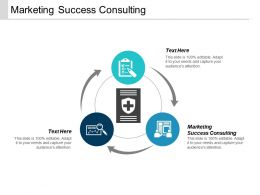 Marketing Success Consulting Ppt Powerpoint Presentation Icon Designs Cpb