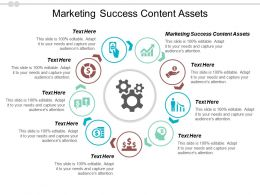 Marketing Success Content Assets Ppt Powerpoint Presentation File Elements Cpb