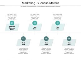 Marketing Success Metrics Ppt Powerpoint Presentation Gallery Files Cpb