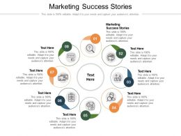 Marketing Success Stories Ppt Powerpoint Presentation File Ideas Cpb