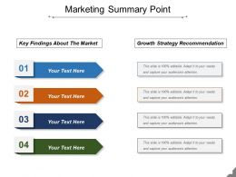 Marketing Summary Point Presentation Backgrounds