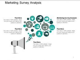 Marketing Survey Analysis Ppt Powerpoint Presentation Styles Skills Cpb