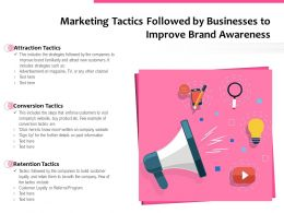 Marketing Tactics Followed By Businesses To Improve Brand Awareness
