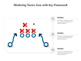 Marketing Tactics Icon With Key Framework