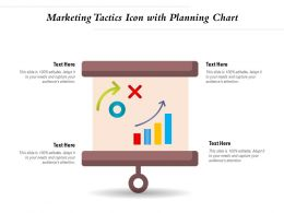 Marketing Tactics Icon With Planning Chart