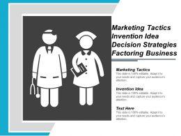 Marketing Tactics Invention Idea Decision Strategies Factoring Business