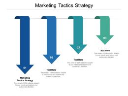 Marketing Tactics Strategy Ppt Powerpoint Presentation Icon Elements Cpb