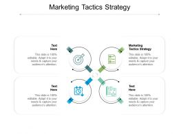 Marketing Tactics Strategy Ppt Powerpoint Presentation Infographic Template Objects Cpb