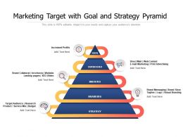 Marketing Target With Goal And Strategy Pyramid