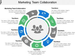 Marketing Team Collaboration Ppt Powerpoint Presentation Slides Demonstration Cpb