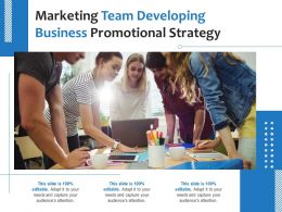 Marketing Team Developing Business Promotional Strategy