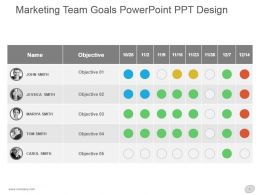 Marketing Team Goals Powerpoint Ppt Design