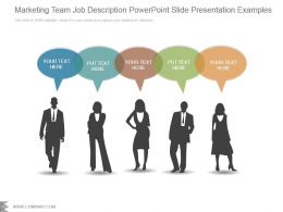 Marketing Team Job Description Powerpoint Slide Presentation Examples