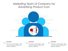 Marketing Team Of Company For Advertising Product Icon