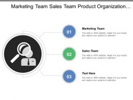 Marketing Team Sales Team Product Organization Group Product Manager
