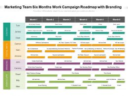 Marketing Team Six Months Work Campaign Roadmap With Branding